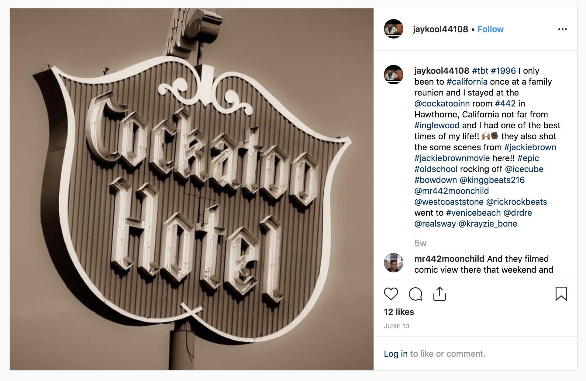 Jay Kool on his visit to the Cockatoo Inn